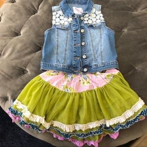 Girls denim vest size 10